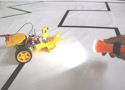 Light Follower Robot