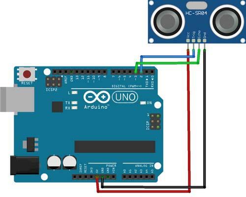 rangkaian arduino ultrasonik