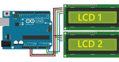 Rangkaian modul I2C LCD Arduino